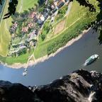 Aussicht von der Bastei auf die Elbe