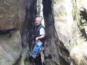 manchmal, so wie hier oben auf dem Pfaffenstein, sind wie Wege ganz schön eng