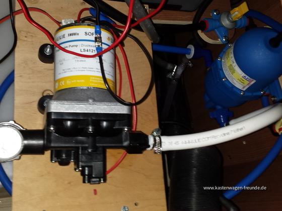 Das ist der aktuelle Stand meiner Wasserpumpenoptimierung.