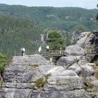 Fernsicht von Bastei-Aussichtspunkt